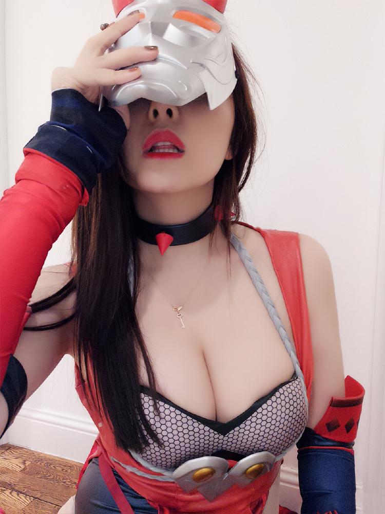 斗鱼美女人气主播张琪格COS王者荣耀阿珂写真照片2
